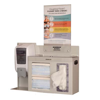 Bowman Respiratory Hygiene Station Locking Model FD-112
