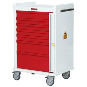 Harloff Seven Drawer Emergency Cart Standard Package MR7B