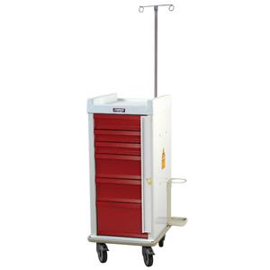 Harloff Narrow Six Drawer Emergency Cart Breakaway Lock Specialty Packag