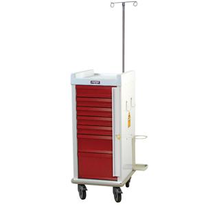 Harloff Narrow Seven Drawer Emergency Cart Breakaway Lock Specialty Package