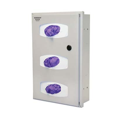 Bowman Semi-recessed Glove box dispenser