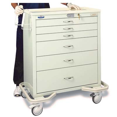 Armstrong Medical Aluminum Electronic Touchpad Wide Cart AKE-B-6